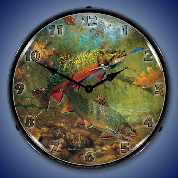 American Beauties Trout Clock
