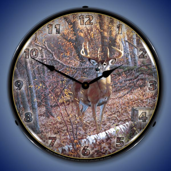 Great  White Tail Deer Clock