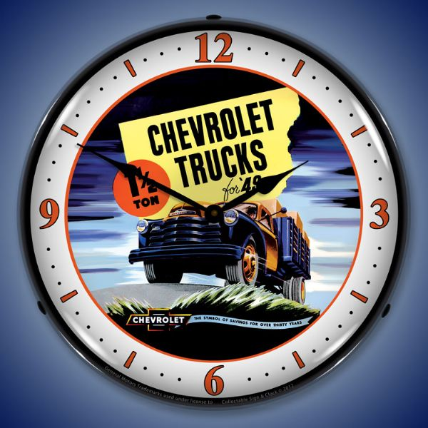 1949 Chevrolet Pickup Lighted Clock