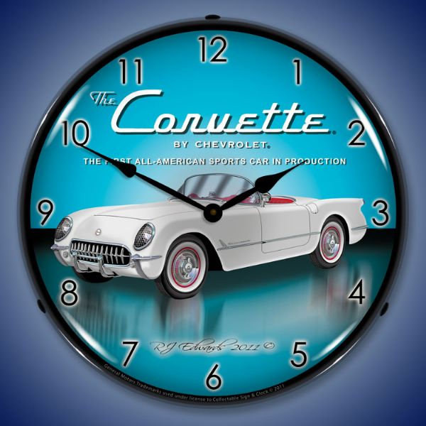 1953 Corvette Lighted Clock