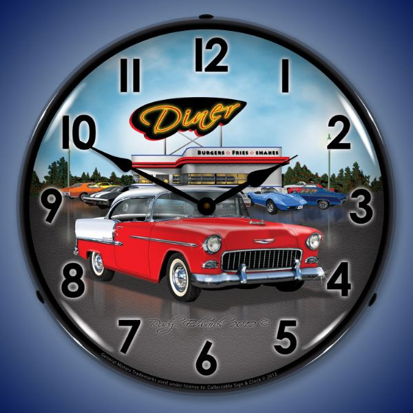 1955 Chevrolet Belair Lighted Clock