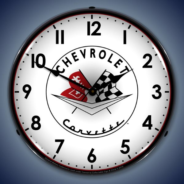 Corvette 1956-1957 Lighted Clock