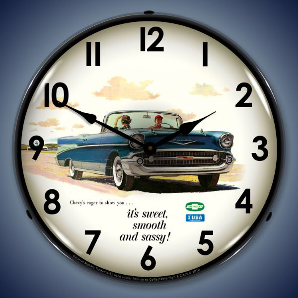 1957 Belair Lighted Clock