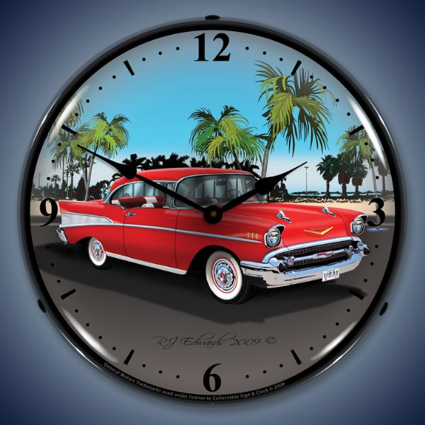 1957 Chevrolet Lighted Clock