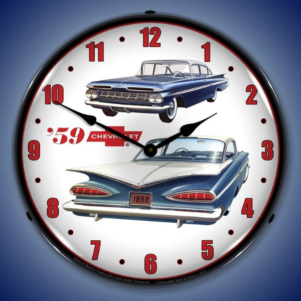 1959 Chevrolet Impala Lighted Clock