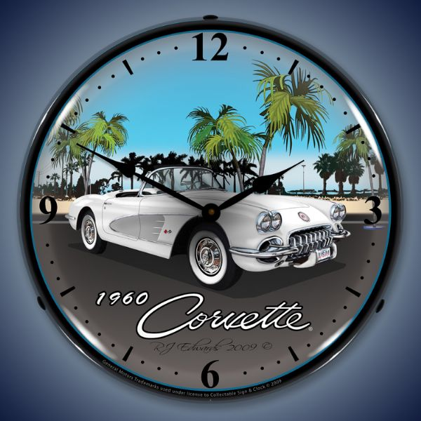 1960 Corvette Lighted Clock