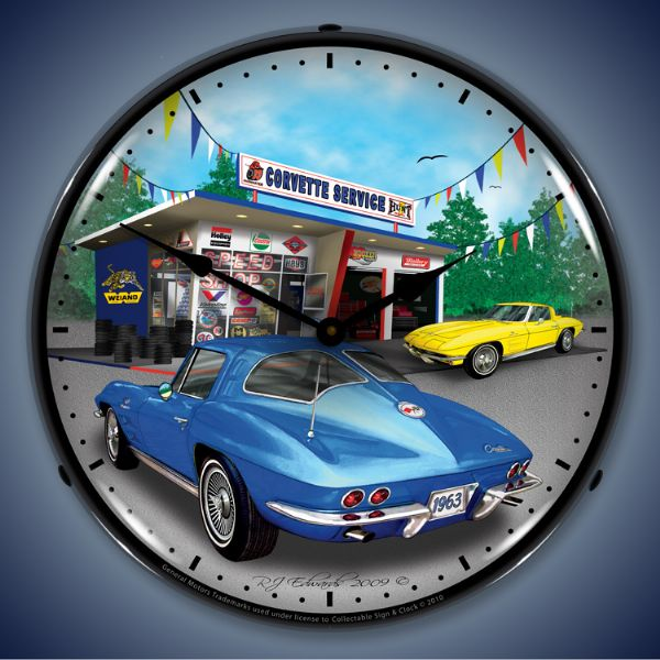 1963 Corvette Lighted Clock