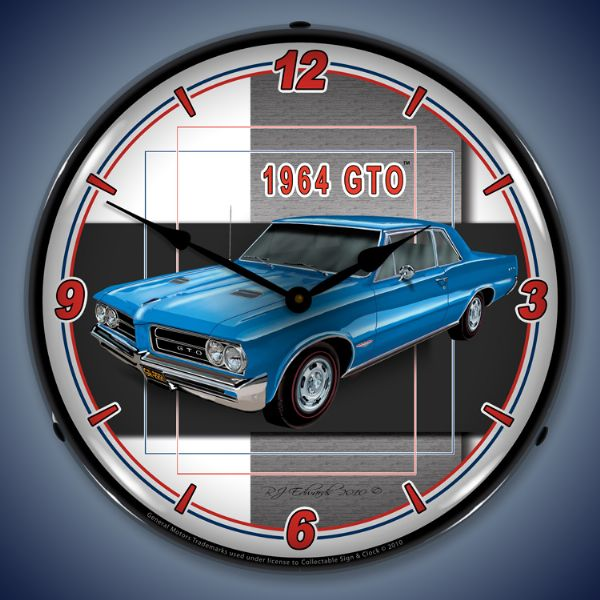 1964 GTO Lighted Clock