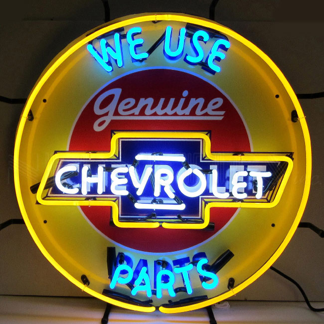 Chevrolet Genuine Parts Neon Sign