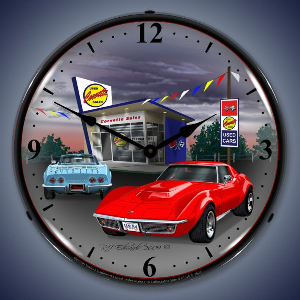 1968 Corvette Lighted Clock