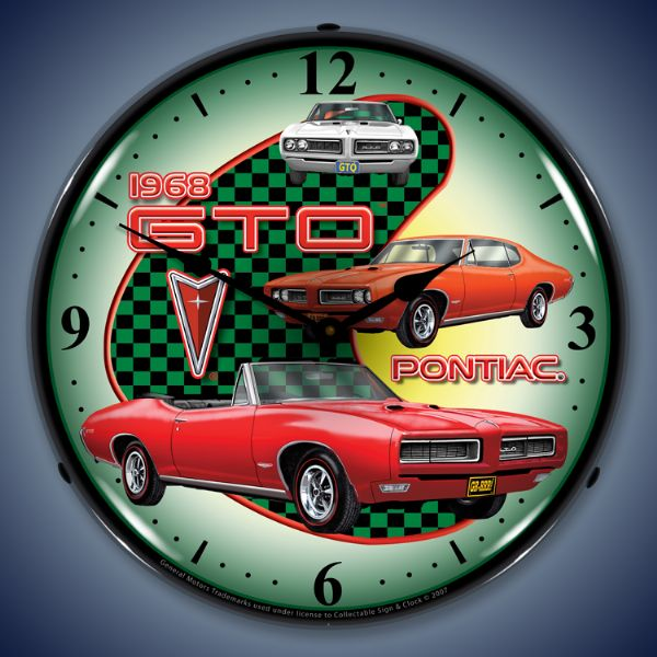 1968 GTO Lighted Clock