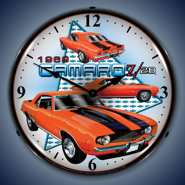 1969 Z28 Camaro Lighted Clock