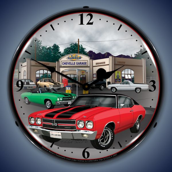 1970 Chevelle Lighted Clock