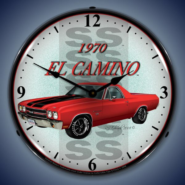 1970 El Camino Lighted Clock