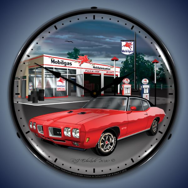 1970 GTO Lighted Clock
