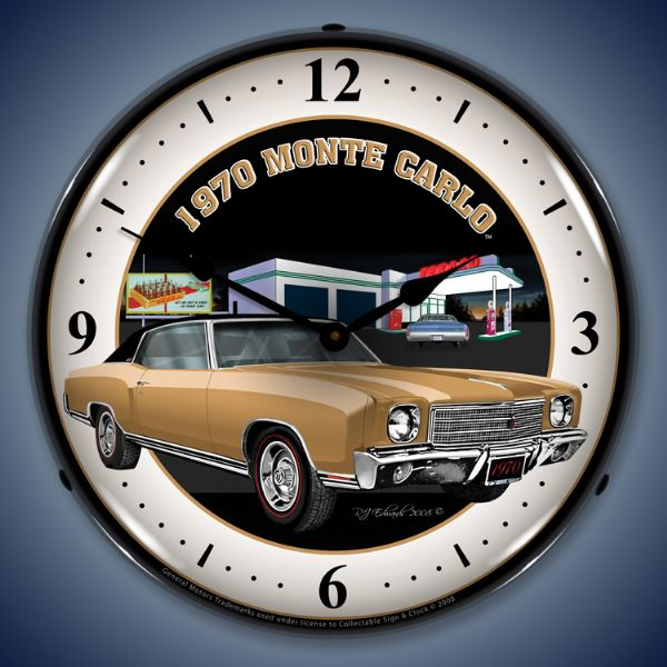 1970 Monte Carlo Lighted Clock