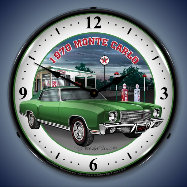 1970 Monte Carlo Texaco Station Lighted Clock