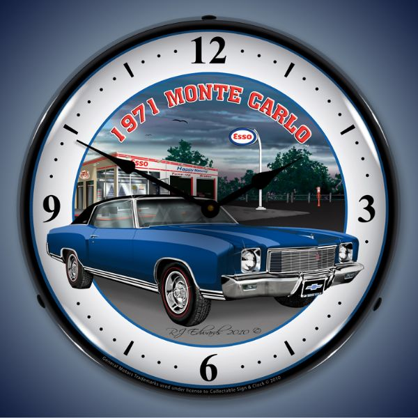 1971 Monte Carlo Lighted Clock