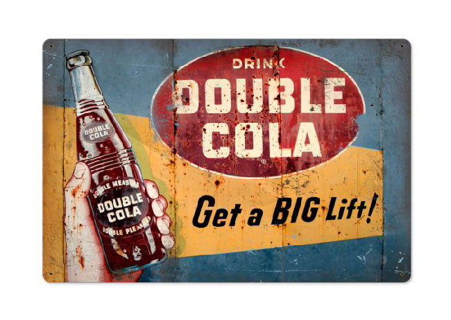 Drink Double Cola Sign