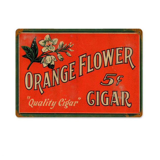 Orange Flower Cigar Company Sign