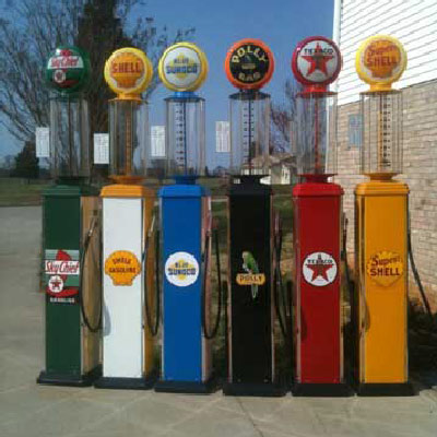 Custom Built Full Size Visible Gas Pumps