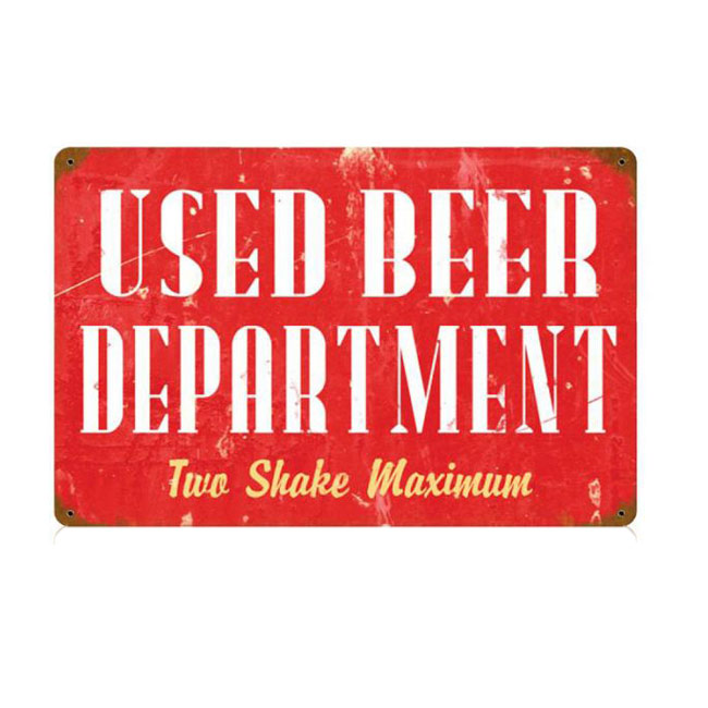 Used Beer Sign