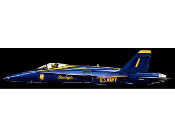 Blue Angels Die Cut Plane Sign