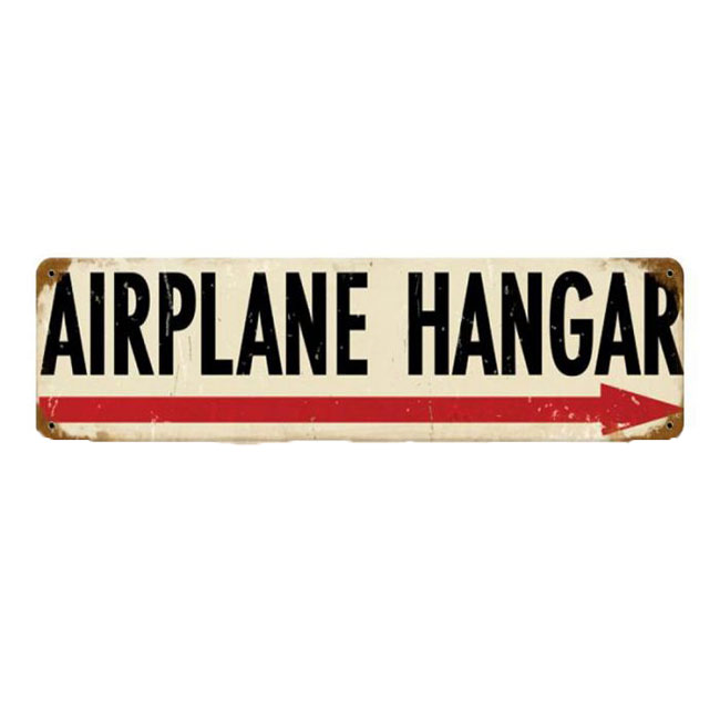 Airplane Hanger Sign