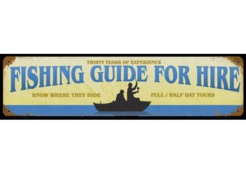 Fishing Guide Sign