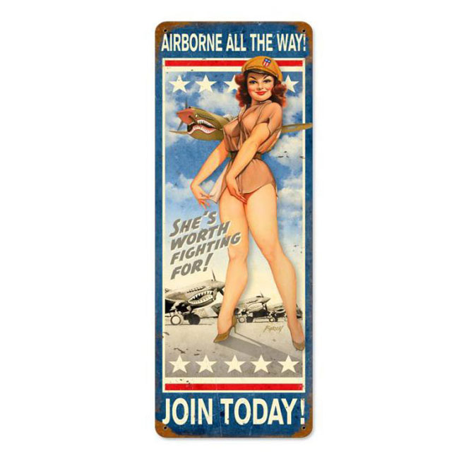Airbourne All The Way Pin Up Sign