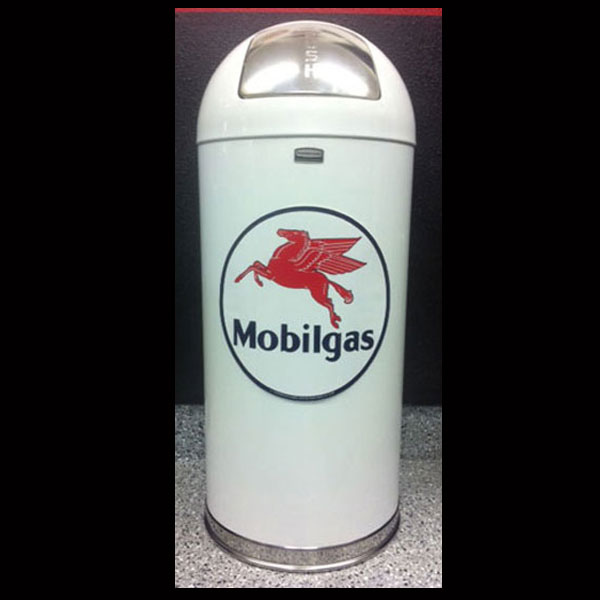 Mobil Gas Retro Trash Can