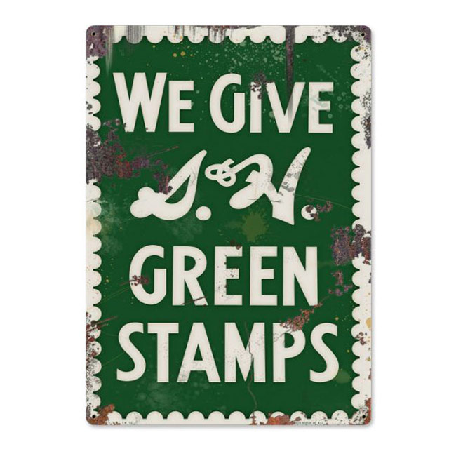 S&H Green Stamps Vintage Sign