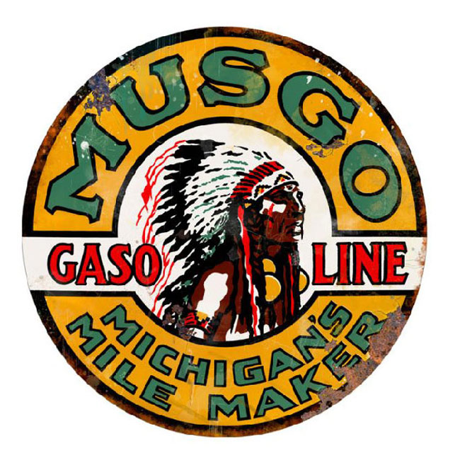 Musgo Gasoline Sign