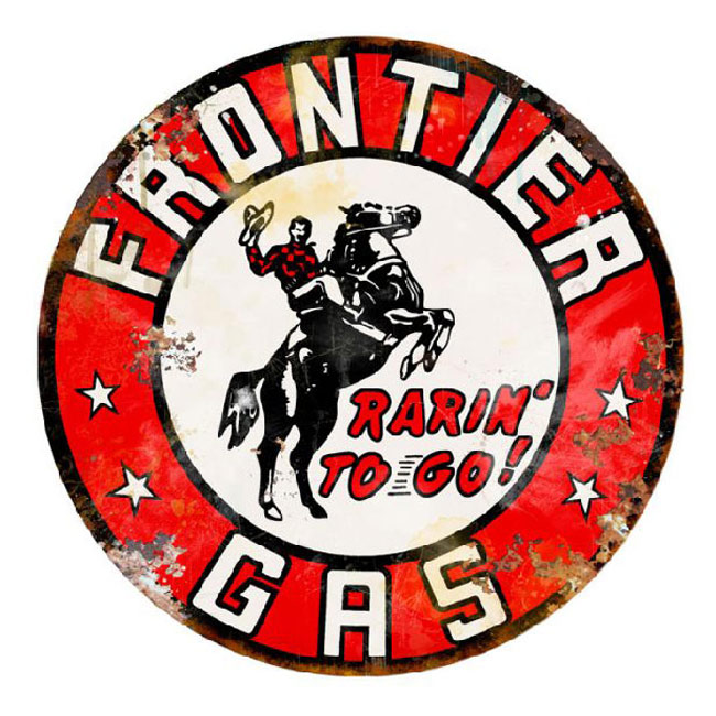 Frontier Gas Vintage Sign