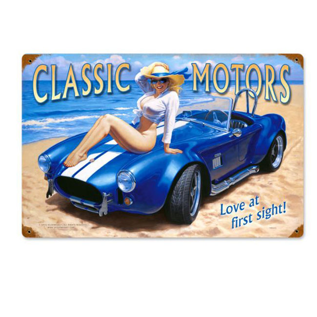 Classic Motors Pin Up Girl Sign