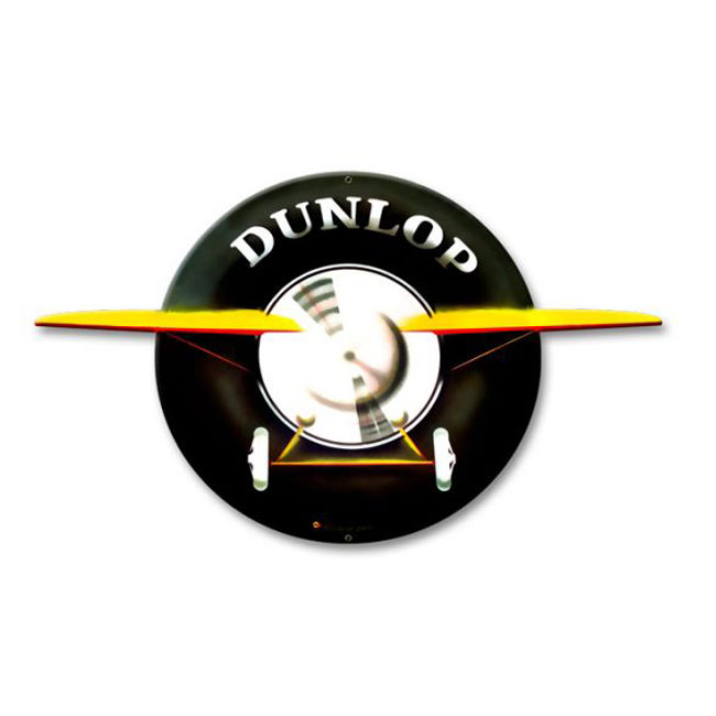 Dunlop Airplane Diecut Sign