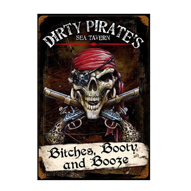 Dirty Pirates Sea Tavern Sign