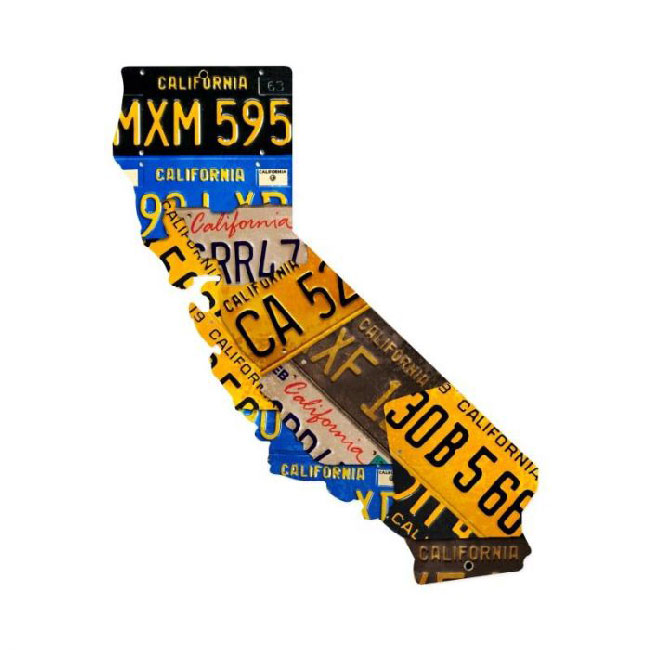 California License Plate Sign