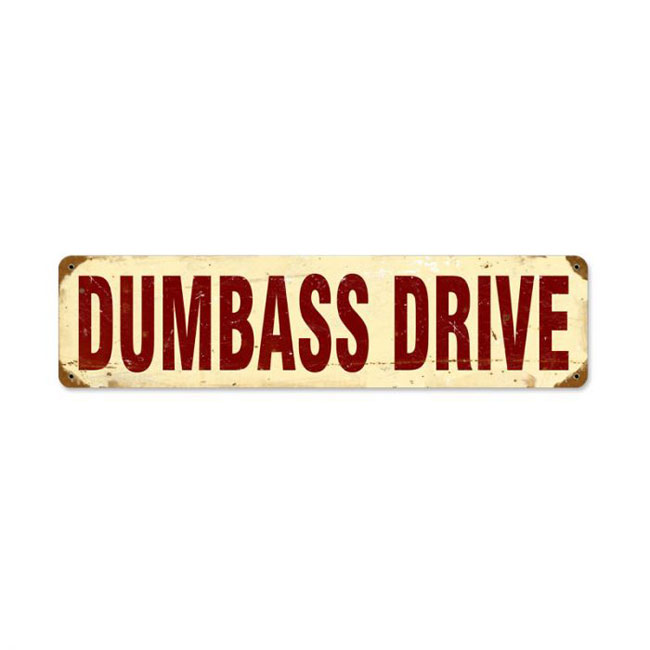 Dumbass Drive Sign
