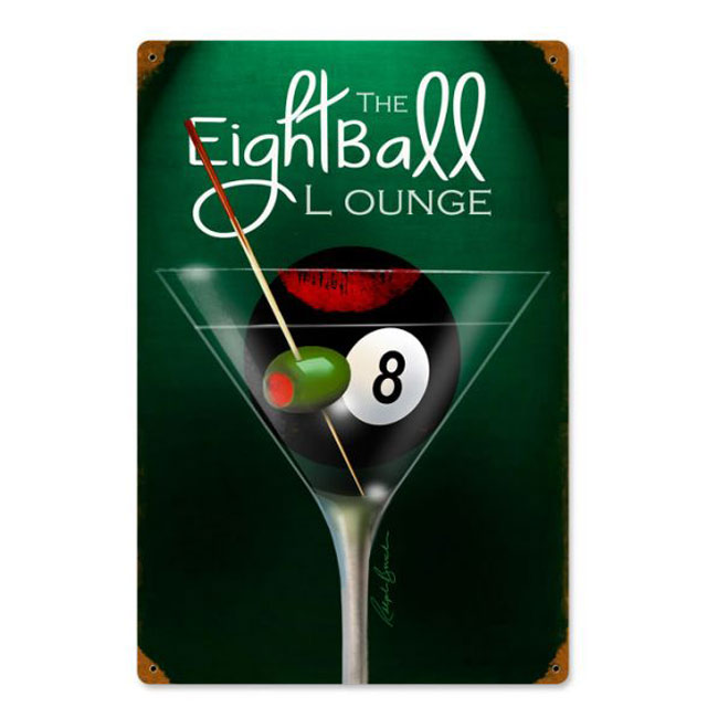 Eight Ball Lounge Sign