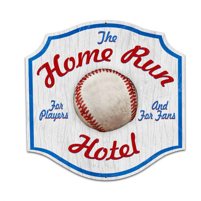 Home Run Hotel Sign