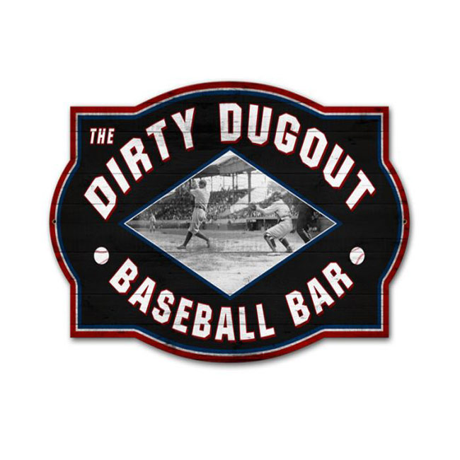 Dirty Dugout Baseball Bar Sign