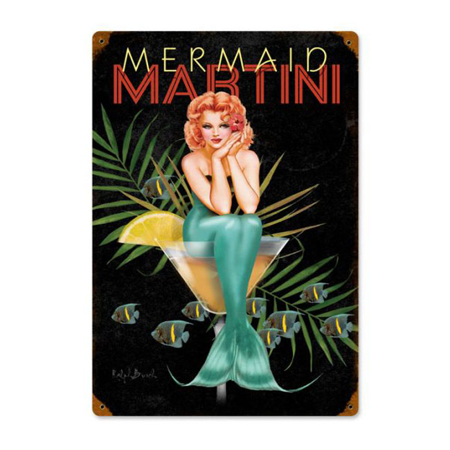 Mermaid Martini Sign