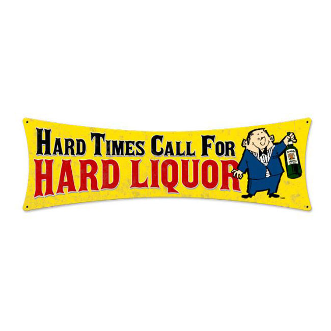 Hard Liquor Bowtie Sign