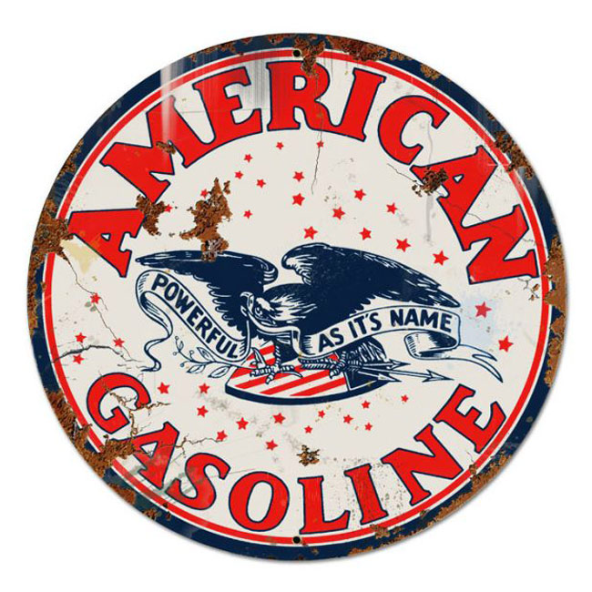 American Gasoline Large Vintage Sign