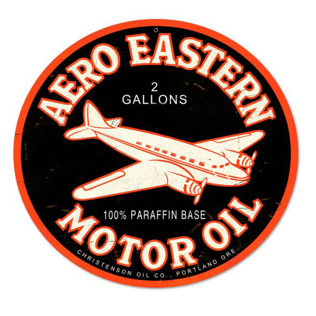 Aero Eastern Motor Oil Sign