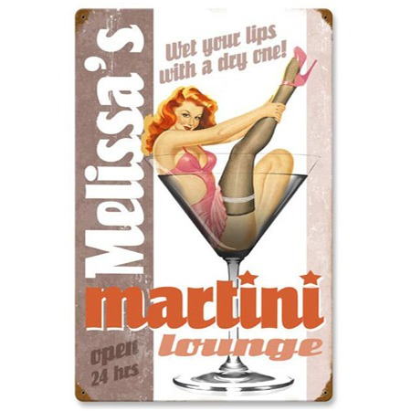 Your Name Martini Lounge Personalized Sign