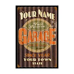 Your Name Full Service Garage Corrugated Personalized Sign