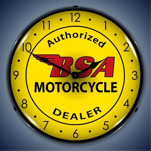 BSA Motorcycle Lighted Clock