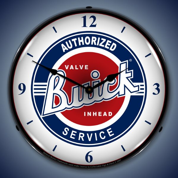 Buick Service Lighted Clock